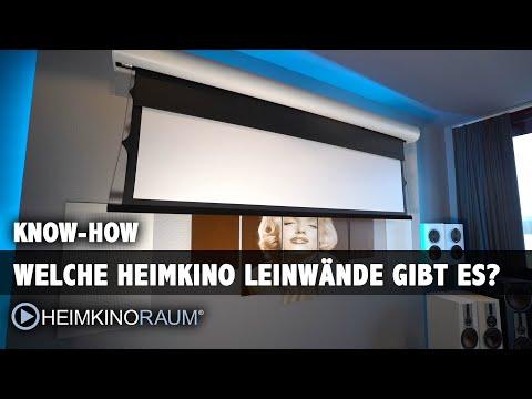 Die richtige Heimkino Leinwand finden. Überblick und Tipps zur Auswahl