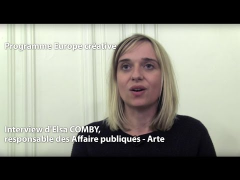 Programme Europe creative : L'interview d'Elsa COMBY, ARTE France