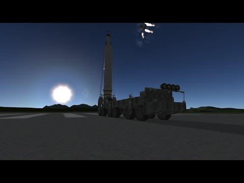 KSP Stock mobile missile/rocket launcher