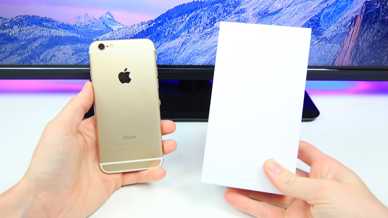 Gold Iphone 6 Hands On Amp Unboxing Youtube