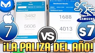 iPhone 7 Vs Samsung Galaxy S7 VELOCIDAD
