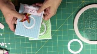 滾軸滑動卡片製作示範 Spinning Card