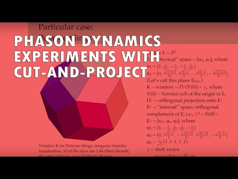 Phason Dynamics and Experiments with Cut-and-Project