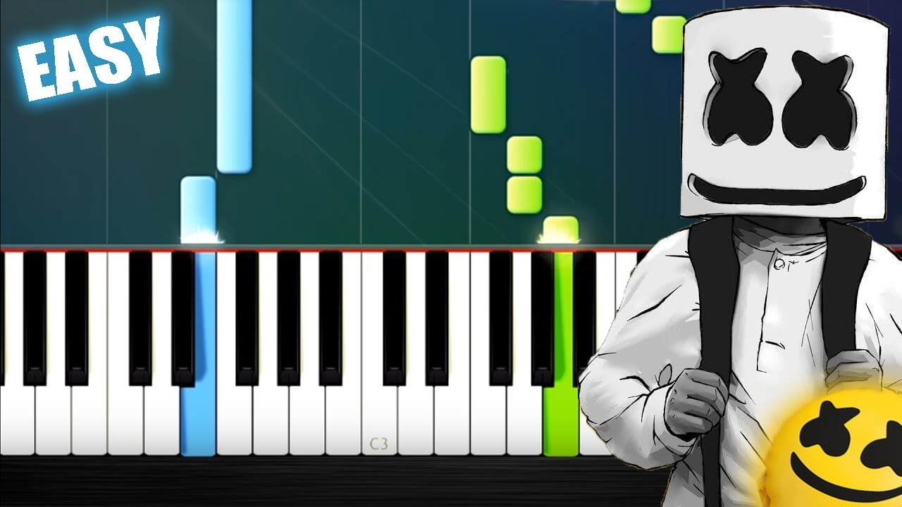 Marshmello ft  Bastille - Happier - EASY Piano Tutorial by PlutaX