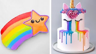 Amazing Unicorn Cake Decorating Ideas | Most Beautiful Rainbow Cake Tutorials | Perfect Cake