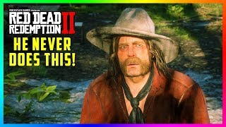 Micah Bell Is The ONLY Character In Red Dead Redemption 2 That Doesn't Do This & It's Very Strange!