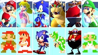 All Characters (8-Bit vs. 2020) - Mario & Sonic at the Tokyo 2020 Olympic Games