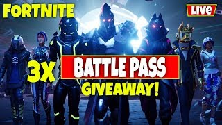 *NEW* SEASON 10 GAMEPLAY // 3 x BATTLEPASS GIVEAWAY! (Fortnite Battle Royale)