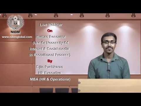 Internet & Social Media in Recruitment Process - Webinar By NIBM Global