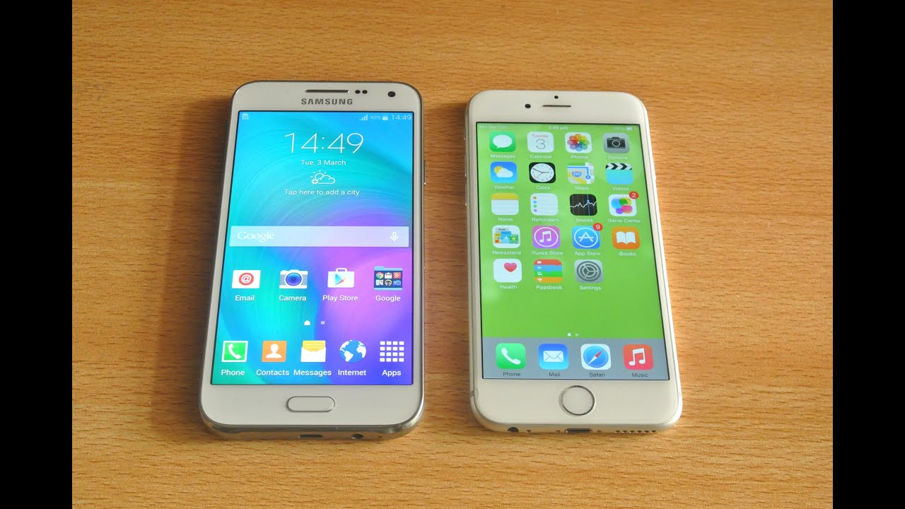 Samsung Galaxy E5 vs iPhone 6 - Full Comparison HD - YouTube