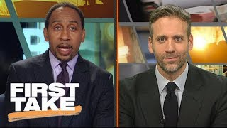 First Take analyzes Rockets' win over Warriors; play by Harden-CP3 and KD-Curry | First Take | ESPN