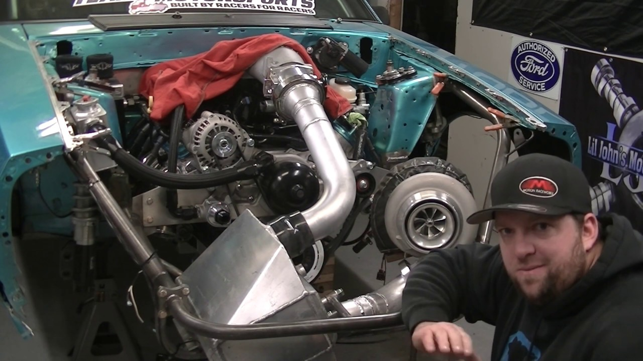 LS Foxbody build EP  61 A2W intercooler mounting and turbo piping