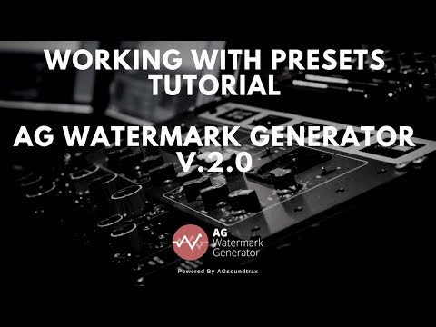 Working With Present on AG Watermark Generator V.2