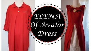 MEN SHIRT TRANSFORMATION, DIY ELENA OF AVALOR DRESS