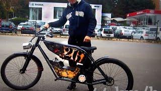 Электровелосипед своими руками 26 Bike, самодельный  РЕТРО ВЕЛОСИПЕД, МОТОЦИКЛ, Custom Bike, VINTAGE(Электровелосипед своими руками, самодельный 1000 W Электро велосипед vintage bike, Электрический велосипед электр..., 2014-11-20T22:57:07.000Z)