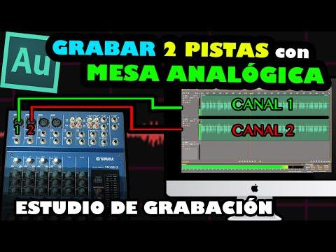 ESTUDIO DE GRABACIÓN | Grabar dos pistas independientes con mesa analógica