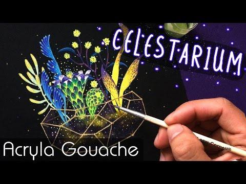 Celestarium // Acryla Gouache Painting // Bao Pham