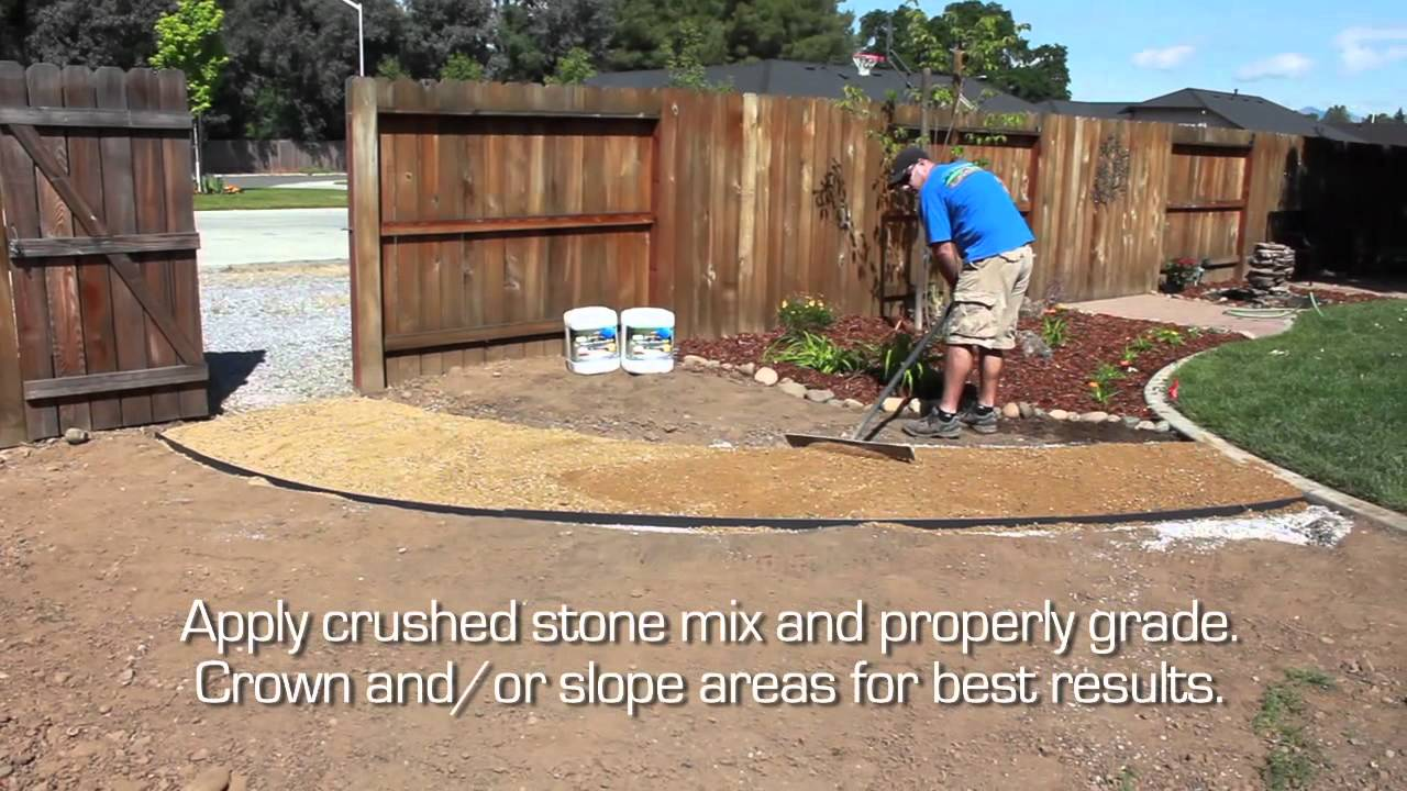 Crushed Stone Pathway Featuring Technisoil Amp Edgepro Youtube