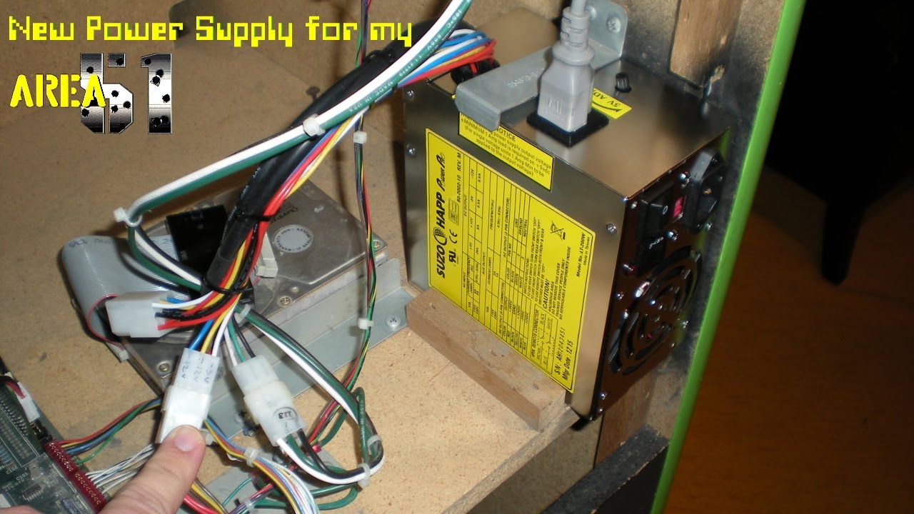 maxresdefault new happ power pro power supply in area 51 arcade machine youtube arcade power supply wiring diagram at n-0.co