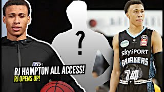 Who's The HARDEST Player RJ Hampton Has Had To GUARD? RJ Opens Up About HS ➡️ GLeague Players & More