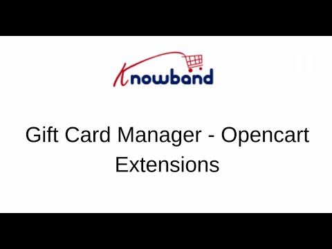 Gift Card Manager - OpenCart Extension | Start selling gift cards on your store thumbnail