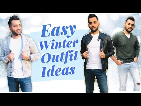 EASY WINTER FASHION OUTFIT IDEAS | Winter Lookbook | Men's Fashion Inspiration | ANKIT TV