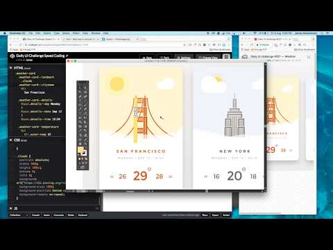 CSS Speed Coding | Weather Card UI