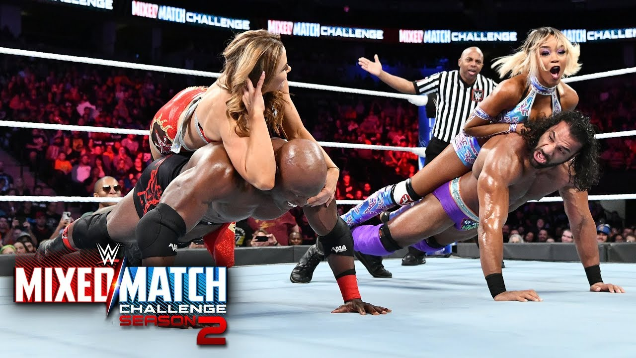 Country Dominance and Mahalicia compete in a push-up contest on WWE MMC