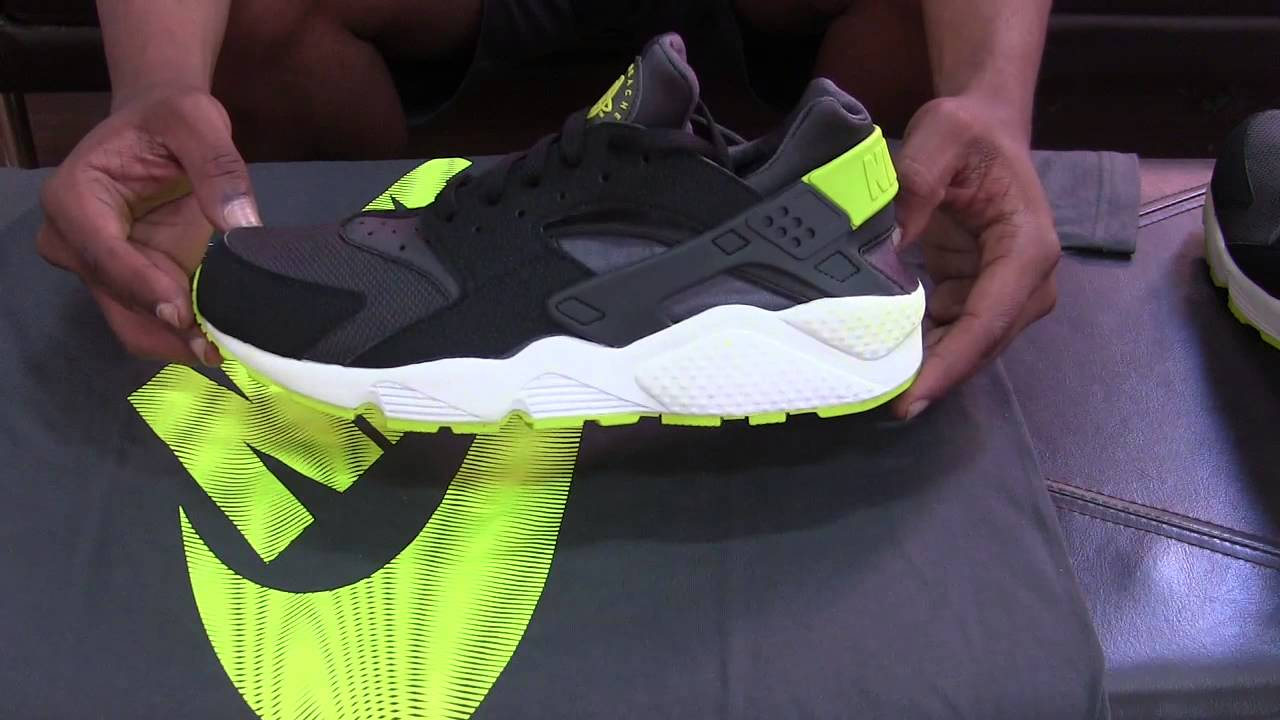 Nike Huarache Black Green
