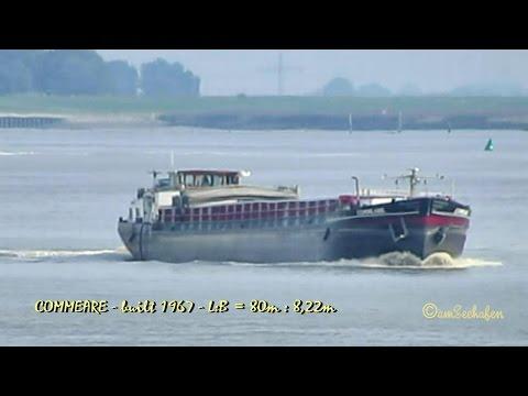 GMS COMMEARE PE3490 MMSI 244750307 Emden inland cargo ship merchant vessel Binnenschiff