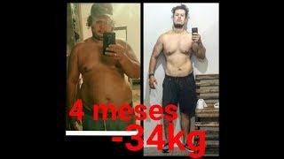 Antes e Depois 34kg eliminado em 120 dias emagrecimento