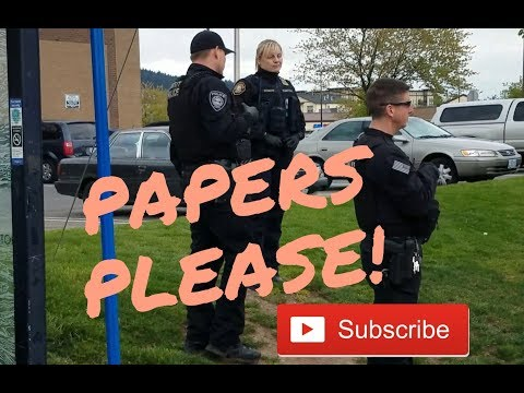 Transit Police [PAPERS PLEASE] Transit check point 82nd Ave in Clackamas County