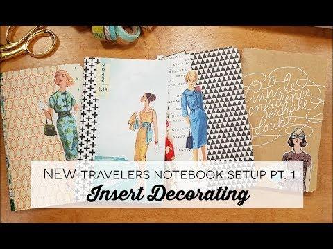 NEW Travelers Notebook Setup Pt. 1: Insert Decorating