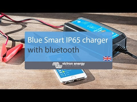 Victron 15A 12V Blue Smart IP22 mains battery charger with Bluetooth UK plug