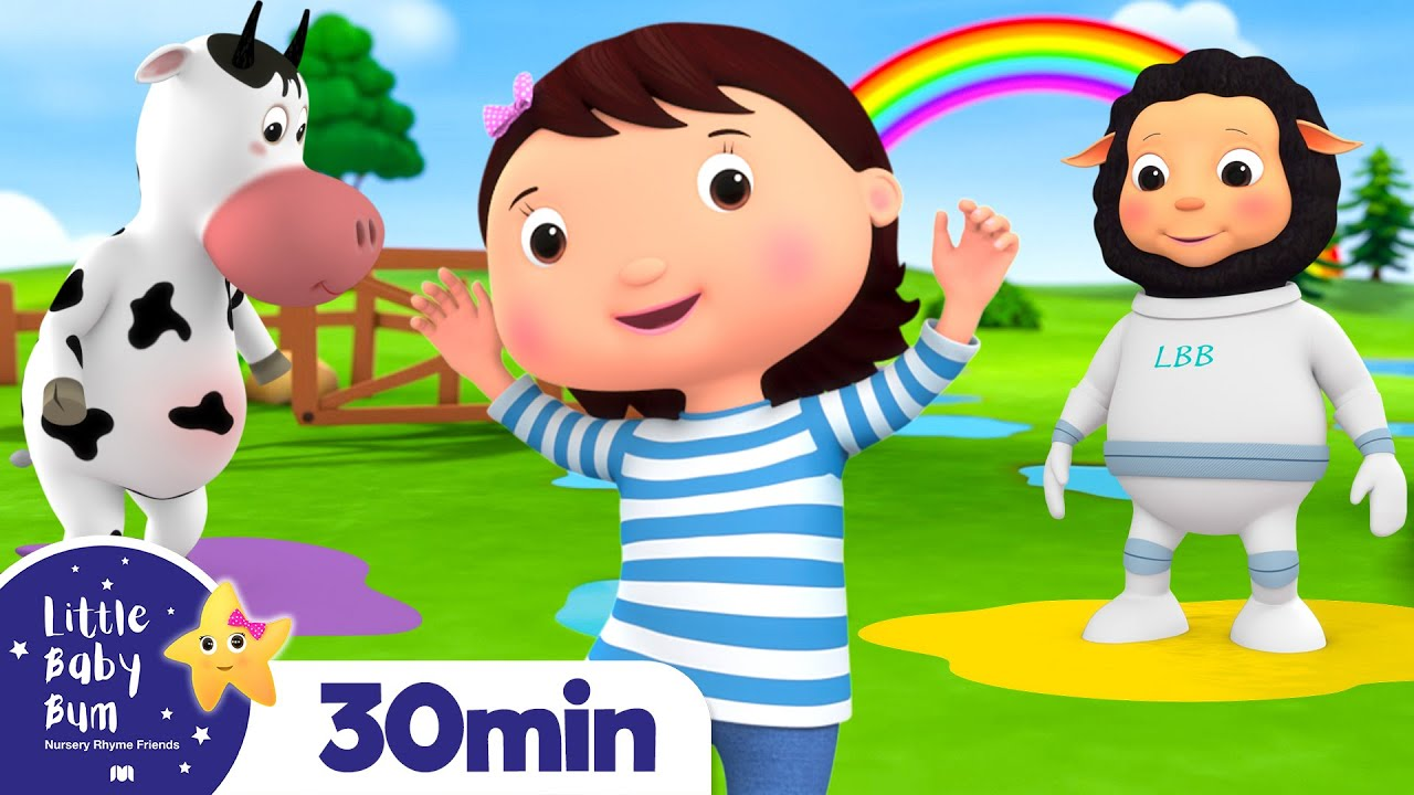 Rainbow Colour Puddles +More Nursery Rhymes and Kids Songs | Little Baby Bum