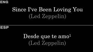 Since I've Been Loving You (Led Zeppelin) — Lyrics/Letra en Español e Inglés