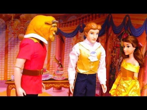 A Bela e A Fera - Gaston se Transforma em uma Fera para enganar a Bela -Brinquedonovelinhas