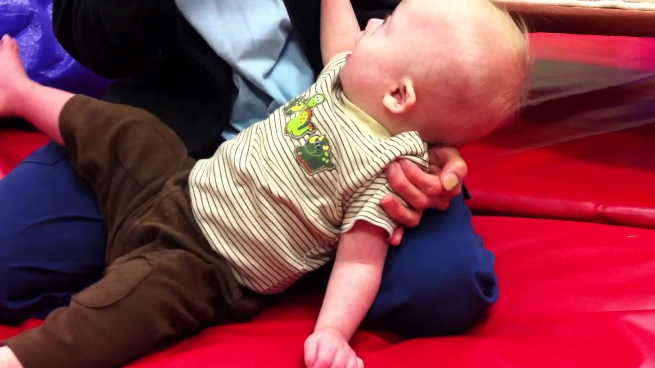 Down syndrome and physical therapy - Baby With Down Syndrome Learning To Crawl At Physical Therapy Youtube