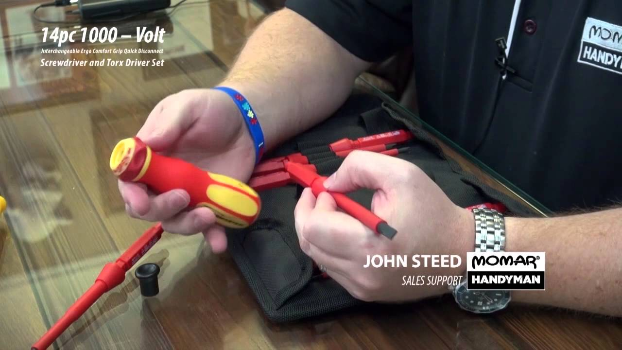1000 Volt Interchangeable Screwdriver And Torx Set Youtube Wera Kraftform Voltage Tester Circuit Testers