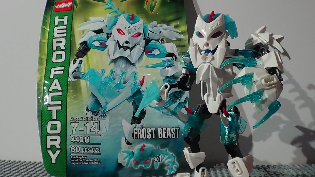 New Lego Hero Factory Brain Attack 44011 Review Frost Beast2013