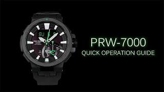 PRO TREK PRW-7000 Quick Operation Guide protrek.com.