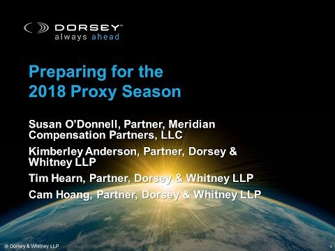 Preparing for the 2018 Proxy Season