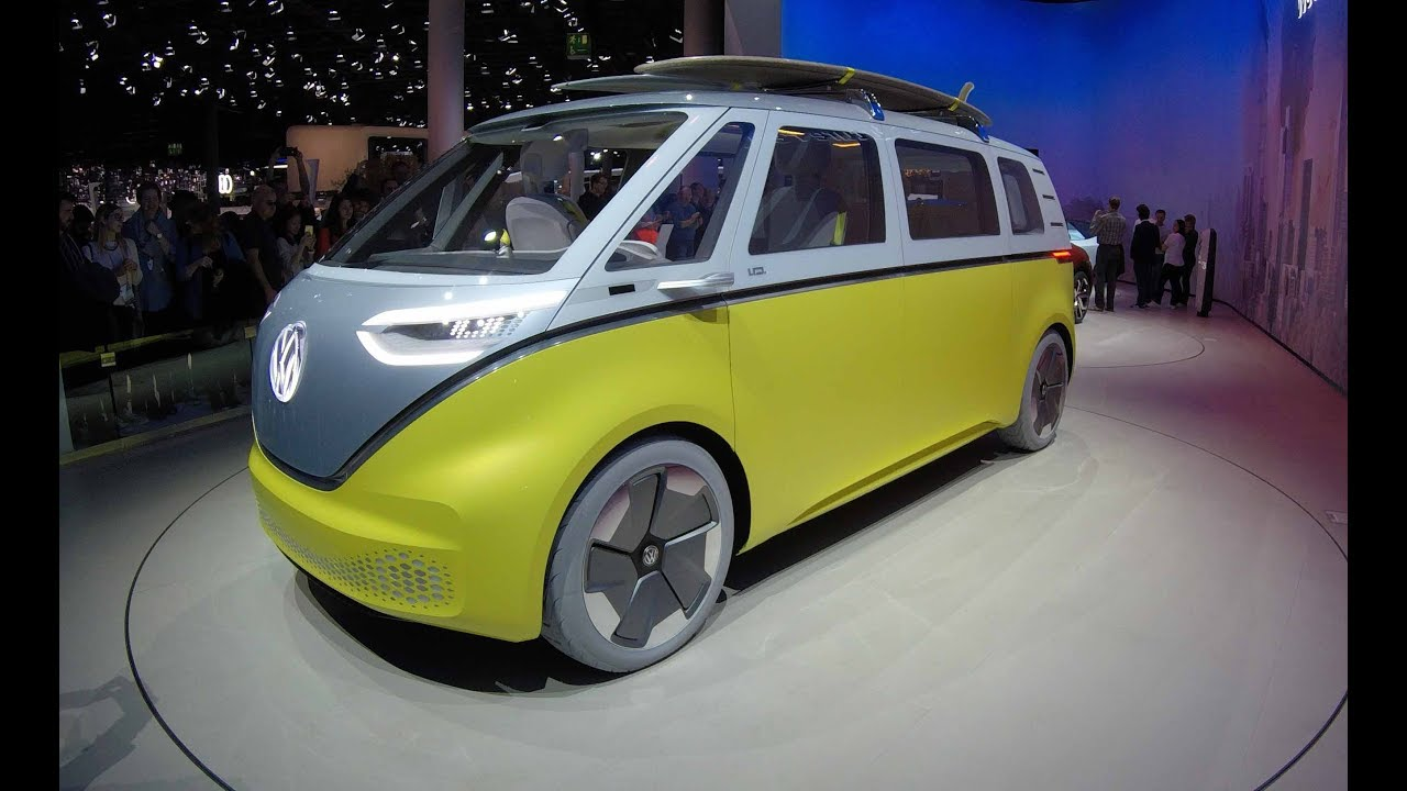 VOLKSWAGEN VW I.D. BUZZ ! FUTURE VAN CONCEPT CAR VISION 4 ! WALKAROUND !