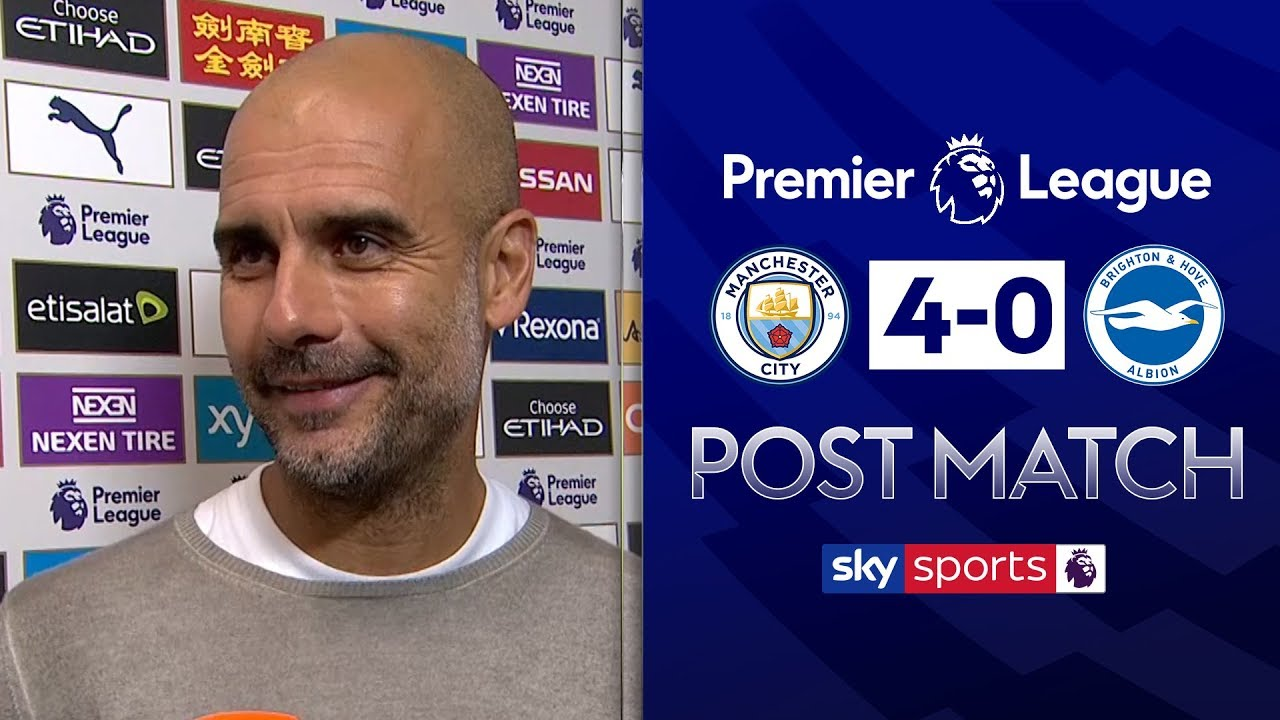 'Man City's quality was the difference' | Pep Guardiola Post Match | Man City 4-0 Bri