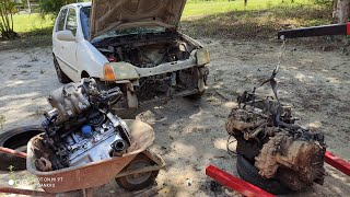 swapping the Honda Logo's engine  First time doing a swap