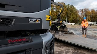 Driving a Volvo FMX on remote control!