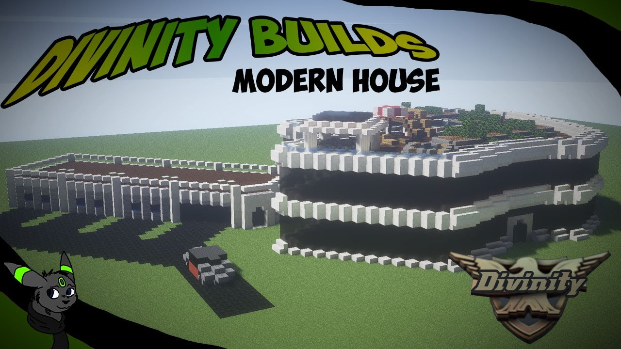 Minecraft Modern House Time lapse Divinity Builds YouTube