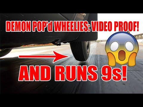 Dodge Demon Pops Wheelies | Multiple 9 Second Passes