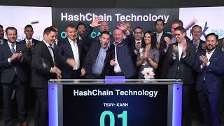 HashChain Technology Inc. Opens Toronto Stock Exchange, February 14, 2018