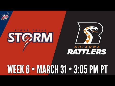 Week 6 | Sioux Falls Storm at Arizona Rattlers